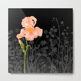 Iris Orange Metal Print