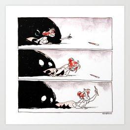 Fight the darkness Art Print
