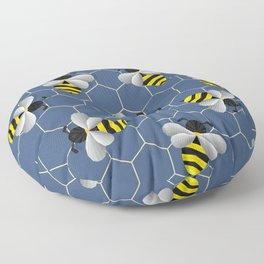 Bumbled Blue Floor Pillow