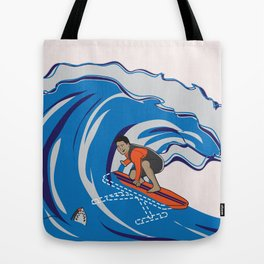 Pressing Waves Tote Bag