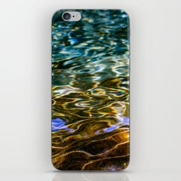 Prismatic Waves in Blue Green Copper and Gold iPhone Skin