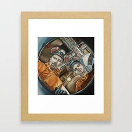 Heisenberg and Jesse, oil painting Framed Art Print