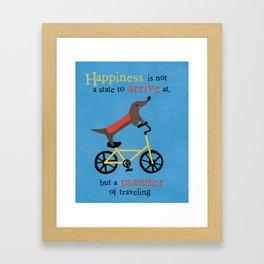 Dach On A Bike Framed Art Print