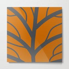 Orange leave Metal Print