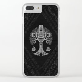 Tree of life  -Yggdrasil  and Celtic Cross Clear iPhone Case