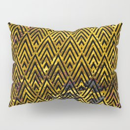 Exotic Art Deco Pattern Infused With Luxurious Antique Gold Pillow Sham