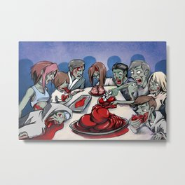 Zombies' Feast Metal Print