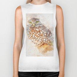Bird animal owl art abstract Biker Tank