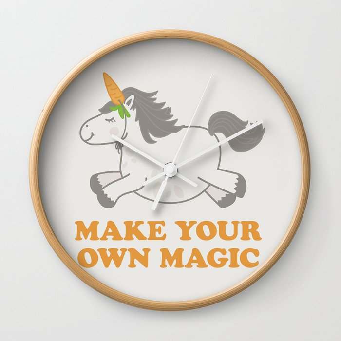 Make Your Own Magic - Pony Turned Unicorn Wall Clock by carolinemoore