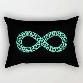 Mint Leopard Infinity Rectangular Pillow