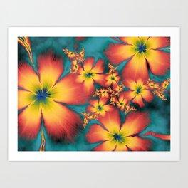 Chintz Flowers Art Print