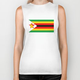 Zimbabwe country flag Biker Tank