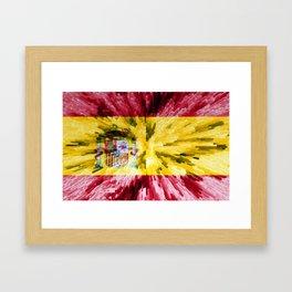 Extruded Flag of Spain Framed Art Print