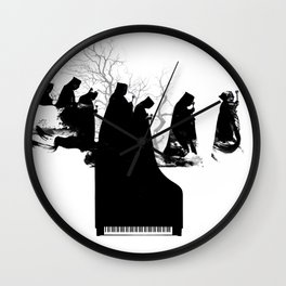 Piano Procession Wall Clock