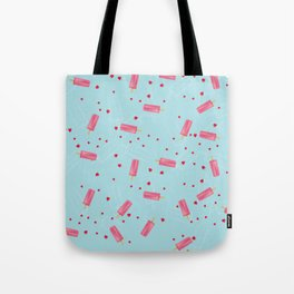 strawberry ice pop Tote Bag