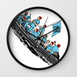 Team Zissou Crossing the Delaware Wall Clock