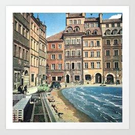 Il mare in paese Art Print