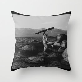 Nik in Tahoe Throw Pillow
