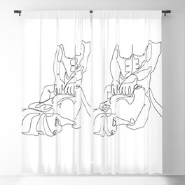 forced from back-Sexual print Blackout Curtain