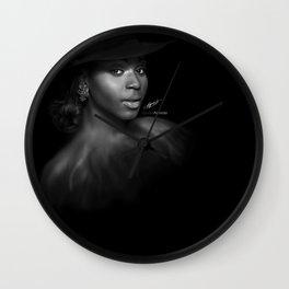 Normani Kordei 'Reflection' Digital Painting Wall Clock
