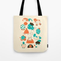 turtles Tote Bags featuring Turtles by Jay Fleck