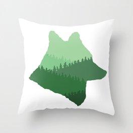 Wolf Mountains Throw Pillow
