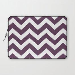 Dark byzantium - violet color - Zigzag Chevron Pattern Laptop Sleeve