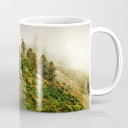 Autumn valley in the cloud Coffee Mug