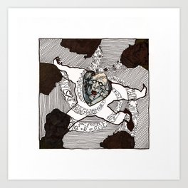 Ability to steal knowledge Art Print
