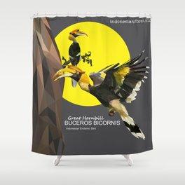 bucheros bicornis Shower Curtain