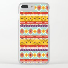 Batik Style 7 Clear iPhone Case