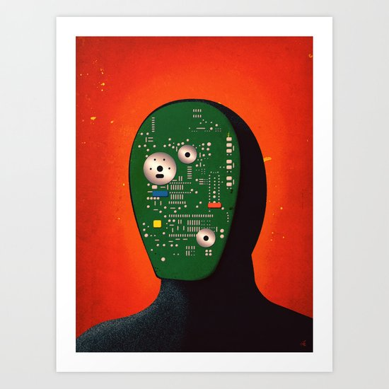 Robots Have Feelings Too Art Print