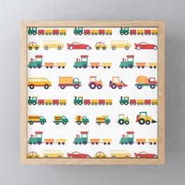 Farm Trucks and Trains Framed Mini Art Print