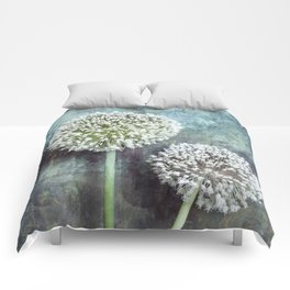Allium Flowers Comforters