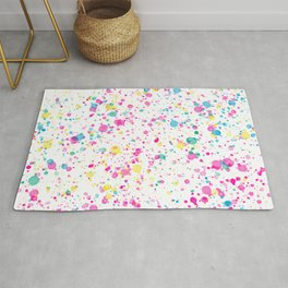 Spring Happy - Bright Color Paint Splatter Rug