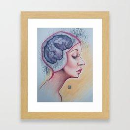 Brain Cramp Framed Art Print