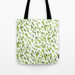 Imperfect brush strokes - olive green Tote Bag