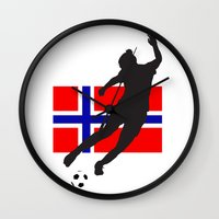 norway Wall Clocks featuring Norway - WWC by Alrkeaton