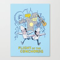 flight of the conchords Canvas Prints featuring Flight of the Conchords by Joshua Kahan