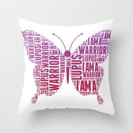 Lupus awareness butterfly Shirt Throw Pillow