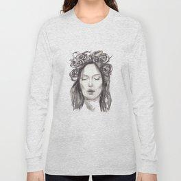 Actress Monica Bellucci - Editorial Long Sleeve T-shirt