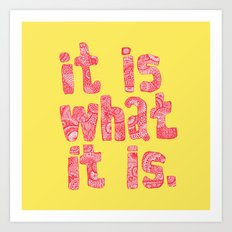 what it is yellow square Art Print
