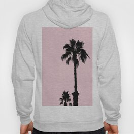 Palm Tree Silhouettes On Pink Hoody