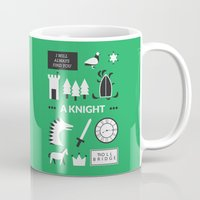 ouat Mugs featuring OUAT - A Knight by Redel Bautista