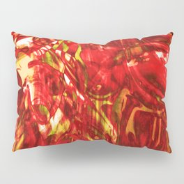 Fluid Painting (Red Version) Pillow Sham