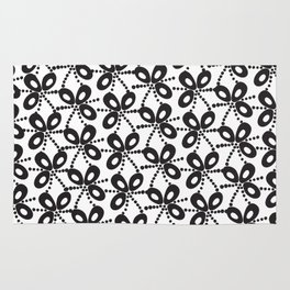 Quirky Black & White Rug