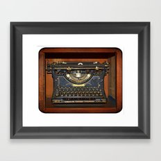 Typewriter2 Framed Art Print