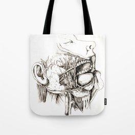 Anatomy: Study 1 Salivating Zombie Tote Bag