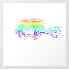Arrow Head (Rainbow) Art Print