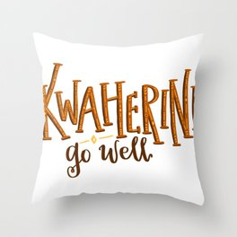 Kwaherini Throw Pillow